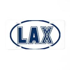 Lacrosse Oval LAX Blue Aluminum License Plate
