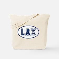 Lacrosse Oval LAX Blue Tote Bag