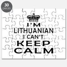 I Am Lithuanian I Can Not Keep Calm Puzzle