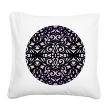 Square Canvas Pillow Damask Style 1