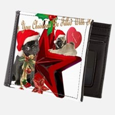 PUGS Christmas Filled With Fun Mens Wallet