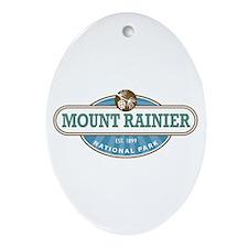 Mount Rainier National Park Ornament (Oval)