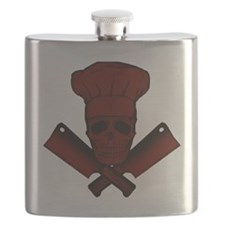 Chef_Skull_dkred Flask
