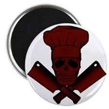 Chef_Skull_dkred Magnet