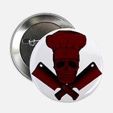 "Chef_Skull_dkred 2.25"" Button"