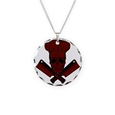 Chef_Skull_dkred Necklace