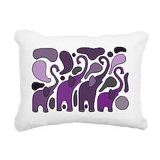 Purple Elephants Art Abs Rectangular Canvas Pillow