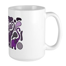 Purple Elephants Art Abstract Mug