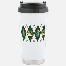 cat-argyle2 Travel Mug
