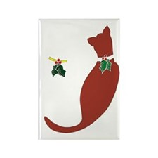 Holiday-Cats Rectangle Magnet