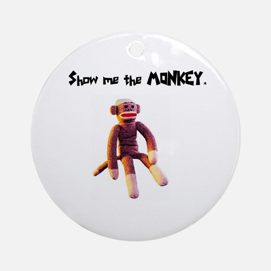 Sock Monkey Items Ornament (Round)