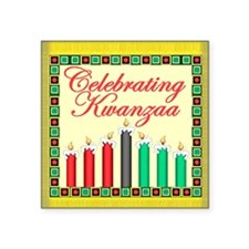 "Kwanzaa Square Sticker 3"" x 3"""