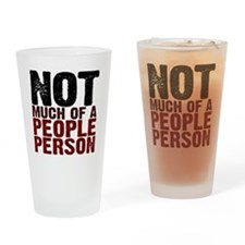Not A People Person antisocial shir Drinking Glass