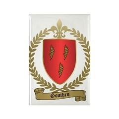 GOUTHRO Family Crest Rectangle Magnet (10 pack)