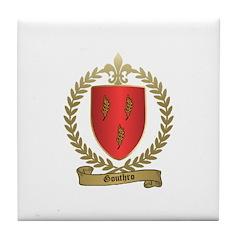 GOUTHRO Family Crest Tile Coaster
