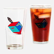 spinnign dreidel dark Drinking Glass