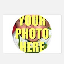 Personalized Circular Image Postcards (Package of
