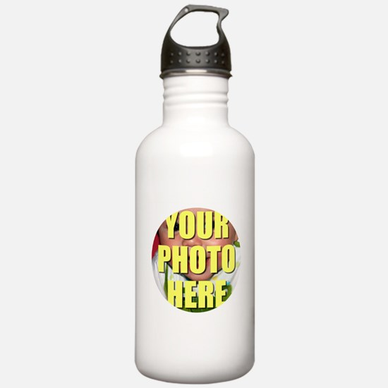Personalized Circular Image Water Bottle
