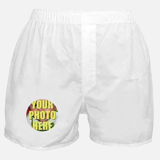 Personalized Circular Image Boxer Shorts