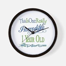 Incredible 1st Birthday Wall Clock