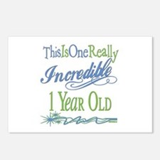 Incredible 1st Birthday Postcards (Package of 8)