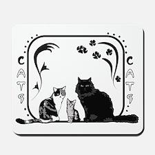 Art nouveau cats for shirt Mousepad