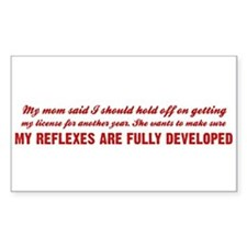 Benchwarmers Rectangle Decal