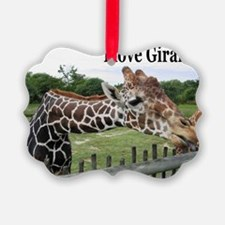 giraffe cover Ornament