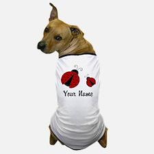 Ladybugs Red Personalized Dog T-Shirt