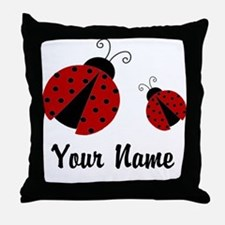 Ladybugs Red Personalized Throw Pillow