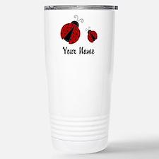 Ladybugs Red Personalized Travel Mug