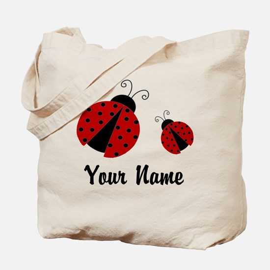 Ladybugs Red Personalized Tote Bag