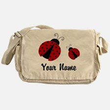 Ladybugs Red Personalized Messenger Bag