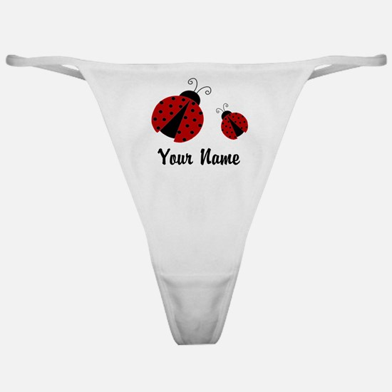 Ladybugs Red Personalized Classic Thong