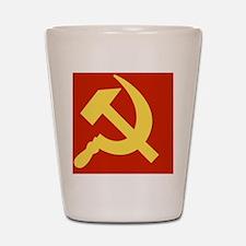 Communist_CapB Shot Glass