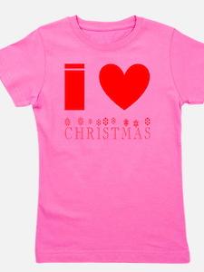 i heart christmas Girl's Tee
