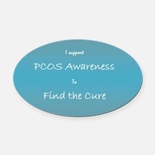 pcos awareness Oval Car Magnet