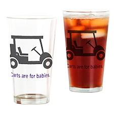 Golf_Carts_purple Drinking Glass