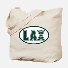 Lacrosse Lax Oval Green Tote Bag