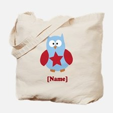 Personalized Independence Day Owl Tote Bag
