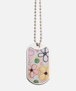flwr_quilted Dog Tags