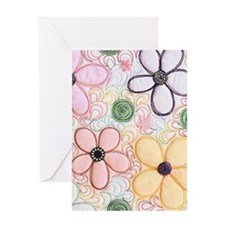 flwr_quilted Greeting Card