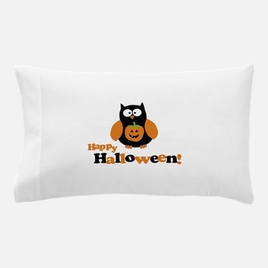 Happy Halloween Owl Pillow Case