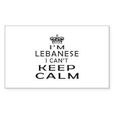I Am Lebanese I Can Not Keep Calm Decal
