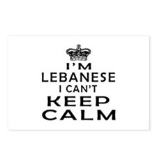 I Am Lebanese I Can Not Keep Calm Postcards (Packa