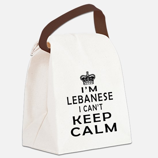 I Am Lebanese I Can Not Keep Calm Canvas Lunch Bag