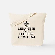 I Am Lebanese I Can Not Keep Calm Tote Bag