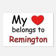 My heart belongs to remington Postcards (Package o