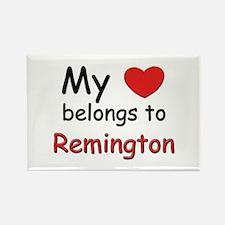 My heart belongs to remington Rectangle Magnet