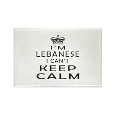 I Am Lebanese I Can Not Keep Calm Rectangle Magnet